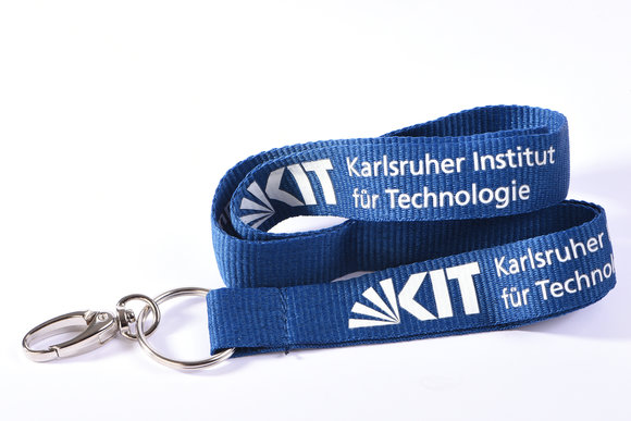 Blue Lanyard of recycled materials of the KIT